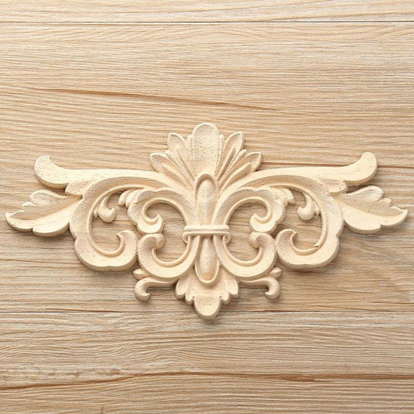 Wooden Crafts Natural Frame Doors Lique Corner Onlay Home Decor Trim Woodcarving Liques Furniture Decal Carving