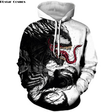 3D hoodies, Fashion, skull, unisex