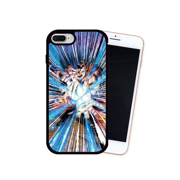 Son Goku Kamehameha Dragon Ball Wallpaper Printed Cellphone Case For Iphone 7 8 7 Plus 8 Plus Back Cover For Iphone