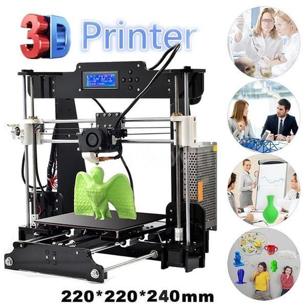 ANET A8 3D Printer,Desktop Acrylic LCD Screen DIY Printer w// Filament+SD Card