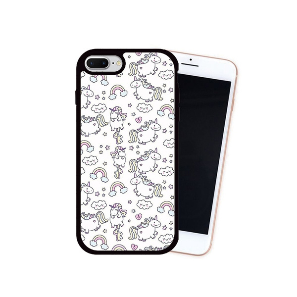 Clouds Rainbow Stars Unicorn Wallpaper Printed Cellphone Case For Iphone 7 8 7 Plus 8 Plus Back Cover For Iphone