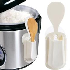 ricescooprack, Storage, portable, suckertypericespoonrack