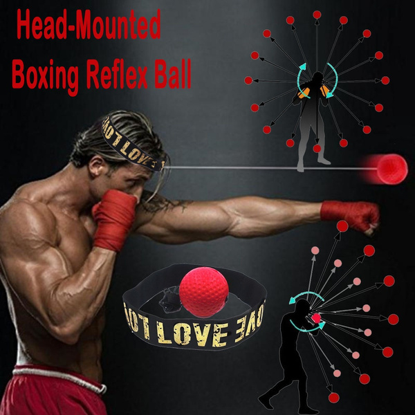 Hand Eye Training Set Head-Mounted Boxing Reflex Ball To Reaction Boxing Ball /%l