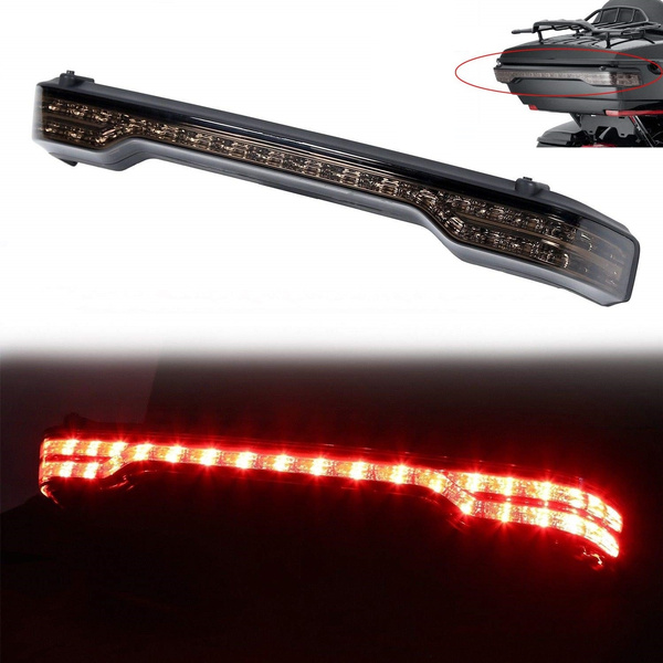 Motorcycle Saddle Bag Chrome Wedge Insert Support Tail Light LED Rear Saddlebag Accents Lights w//Red Lenses For Harley Touring Electra Road Street Glides Road Kings Red