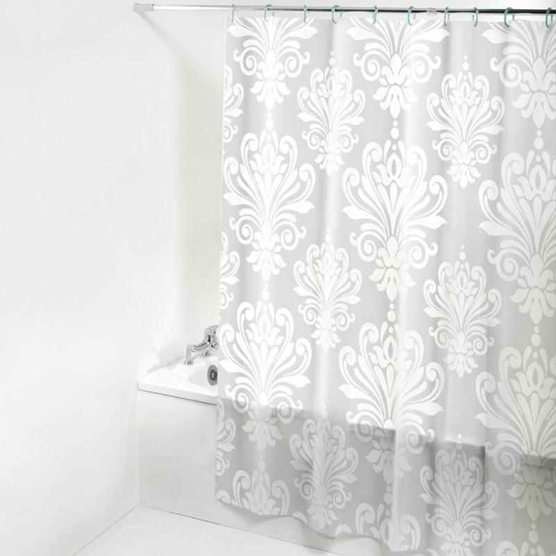 3D Flower Waterproof Bathroom Shower Curtain Liner Plastic PEVA /& Hook 13 Size
