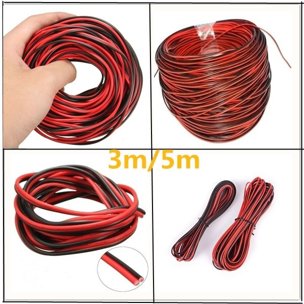 Home, Furniture & DIY 5m/10m 2-Pin RGB extension wire cable cord for 3528 & 5050 rgb led strip light.