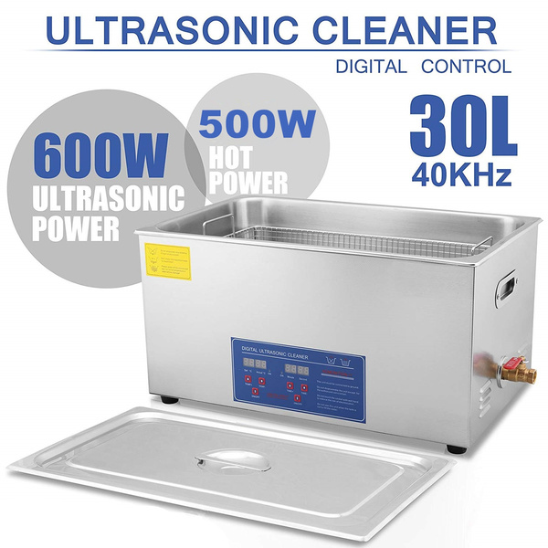 30L Professional Ultrasonic Cleaner with Digital Timer&Heater for Jewelry  Metal Cleaning Auto Parts Industrial Equipment PBC Boards Electronic