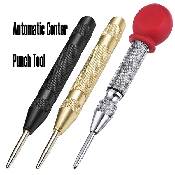 Brass Automatic Spring Loaded Center Punch Tool