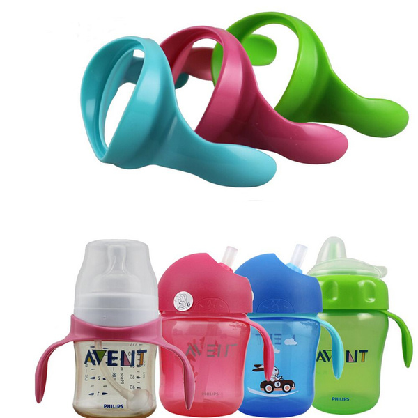 Series PP Glass Milk Cup Grip For Baby Avent Feeding Bottle Handles Wide Neck