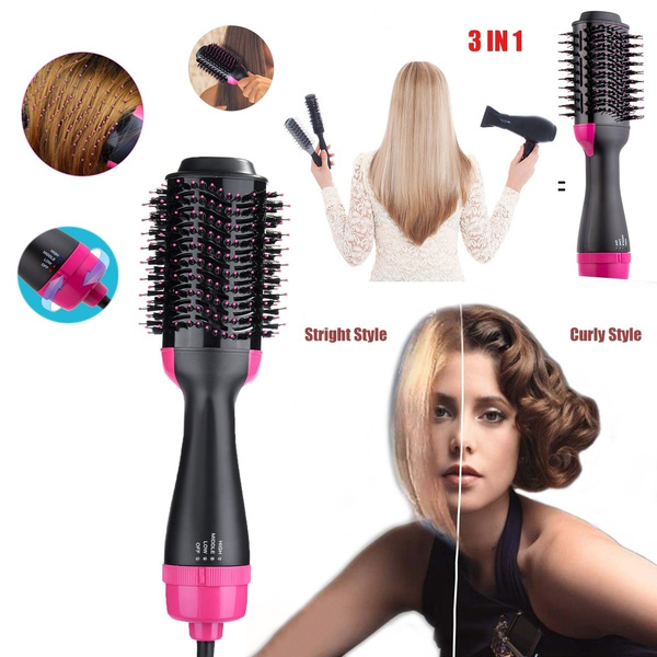 Hot Air Brush, One Step Hair Dryer & Styler & Volumizer Multi-functional  High-power 3-in-1 Salon Negative Ion Hair Straightener & Curly Hair Comb  for