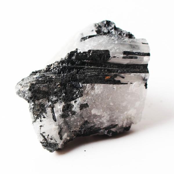 100g Natural Black Crystal Tourmaline Rough Stone Rock Mineral Specimen Healing