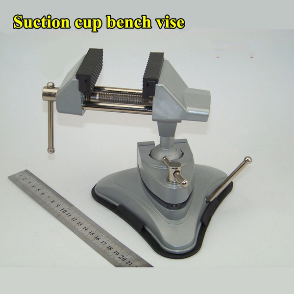 Fantastic Suction Cup Type Small Bench Vise Aluminum Alloy Fixed Pliers 3600 Rotatable Tabletop Fixture Onthecornerstone Fun Painted Chair Ideas Images Onthecornerstoneorg