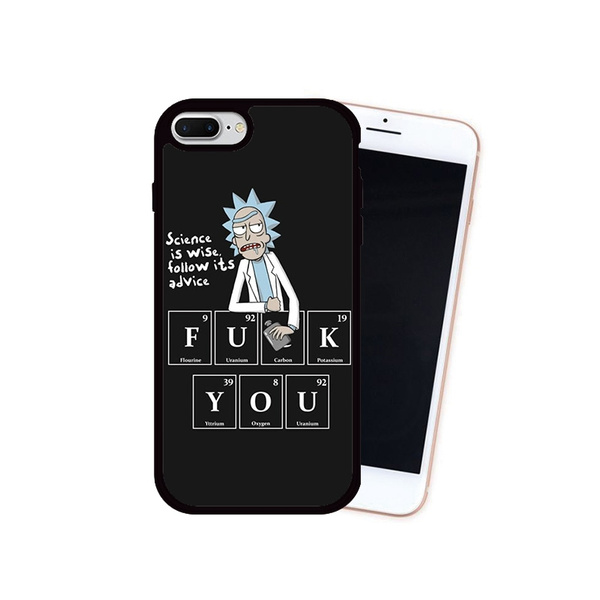 Funny Rick Cold Humor Rick And Morty Wallpaper Printed Cellphone Case For Iphone 7 8 7 Plus 8 Plus Back Cover For Iphone