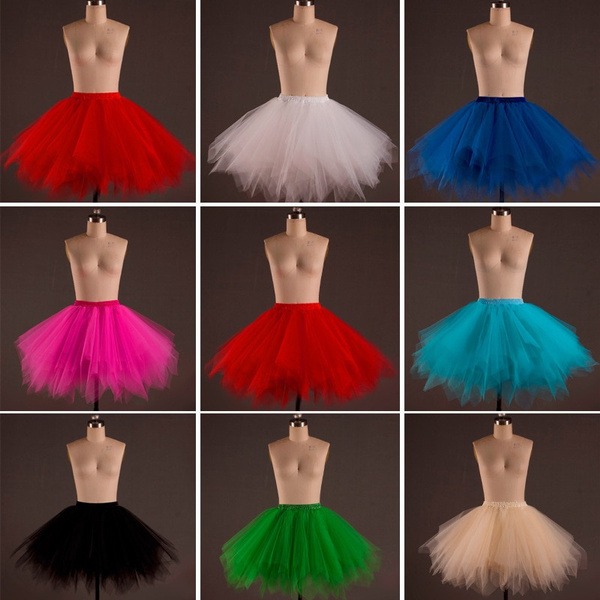 New 2018 Short Petticoat Tulle Skirts  Womens Elastic Stretchy Layers Summer Adult Tutu Skirt Underskirt Rockabilly Ee908 by Wish