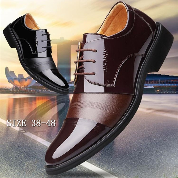 Men/'s casual Flats Leather Shoes Lace Up  Dress//Formal business Oxford Classic