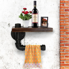 toiletpaperholder, paperstorage, Wall Mount, woodenshelve