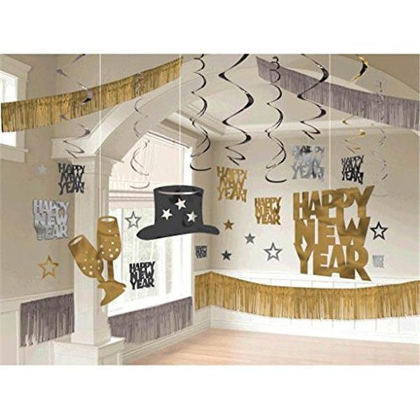 Amscan 240173 New Year Giant Room Decorating Kit , Pack of 28