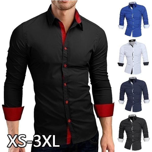 Mens business fashion long-sleeved shirt Wedding Shirt