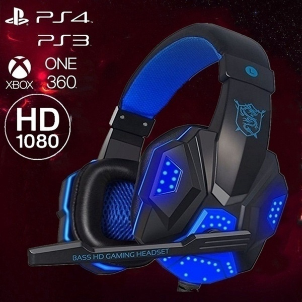 3.5mm Gaming Headset MIC LED Headphones Surround for PC Laptop PS4 PS3 Xbox One