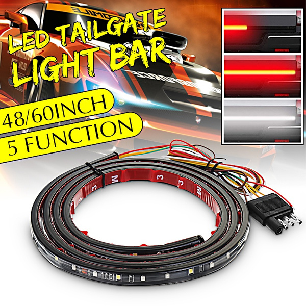 48 60 Inch 3528smd Waterproof 5 Functions Led Pickup Truck Strip Tailgate Light Bar Reverse Brake Stop Consequential Flowing Turn Signal Tail Lamp