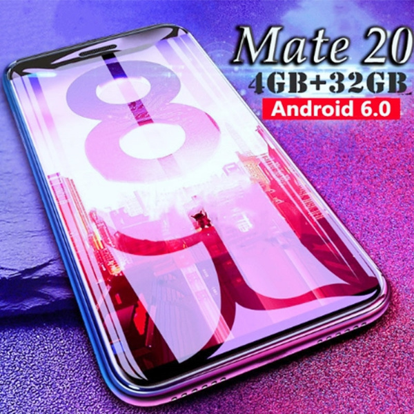 Mate 20 Android Touch Screen 6 0 Inch / 5 0 Inch MTK6580 Octa Core  Smartphone 4GB RAM+ 32GB ROM Dual Sim Card Wifi GPS Bluetooth GSM 3G Mobile  Phone