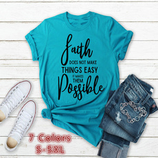 Summer, Plus Size, Tank, Cotton T Shirt