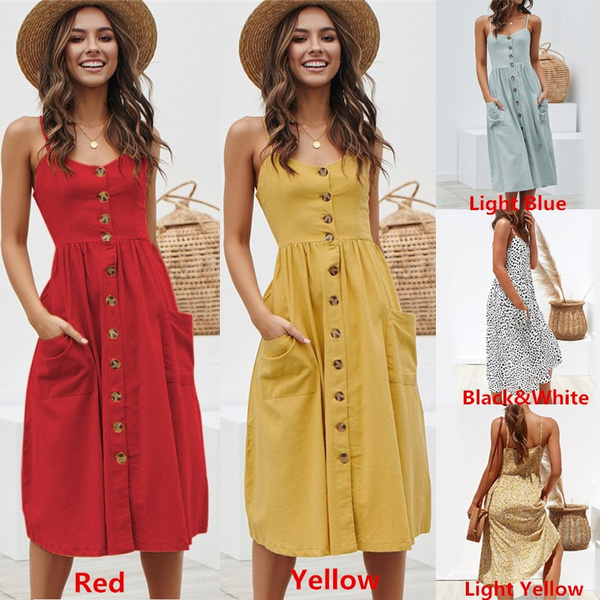 Summer, womens dresses, Dress, Spaghetti Strap