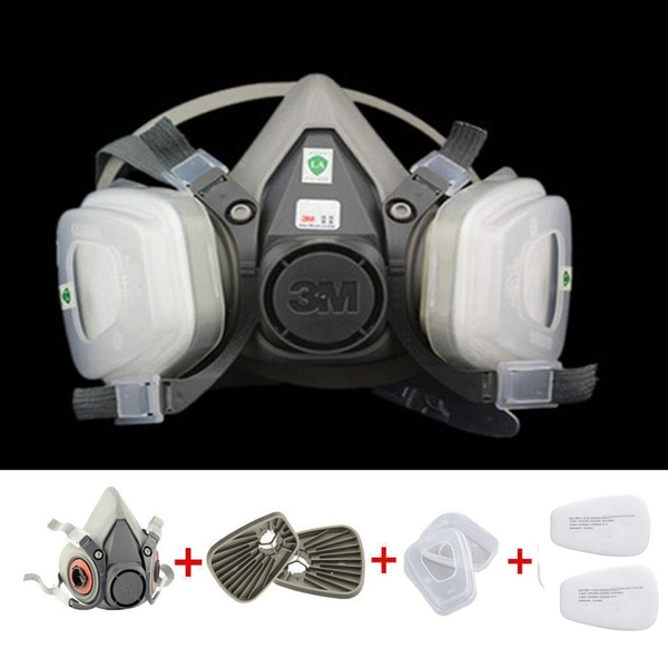 Suit 6200 Combination In Set Face Gas Mask 7 1 Spraying N95 Painting Respirator 17 Pm2 Half For 5