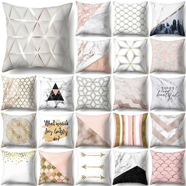 Amazing Rose Gold Flash Geometric Home Decor Printed Pillow Couch Chair Waist Car Computer Bed Sofa Throw Pillow Case Bedroom Office Yoga Seat Bedding Caraccident5 Cool Chair Designs And Ideas Caraccident5Info