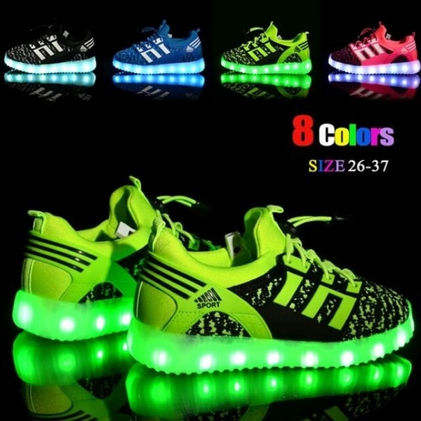 LED Light Up Boys Girls Toddler Luminous Sneakers Kids Casual Sports Shoes 2018