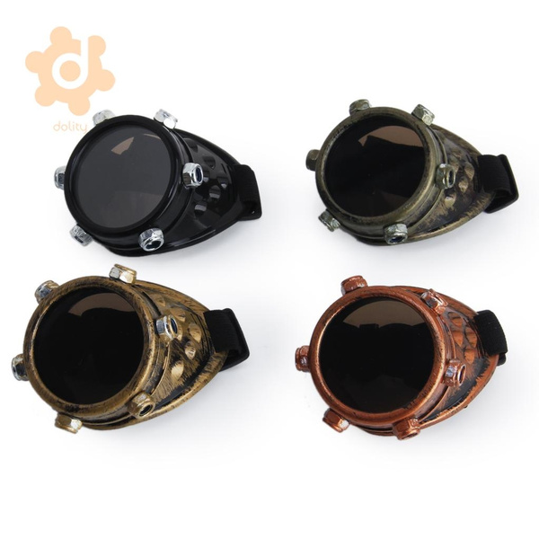 Strapped Monocle Goggle Eyepatch Steampunk Victorian Goth Cosplay Costume Party
