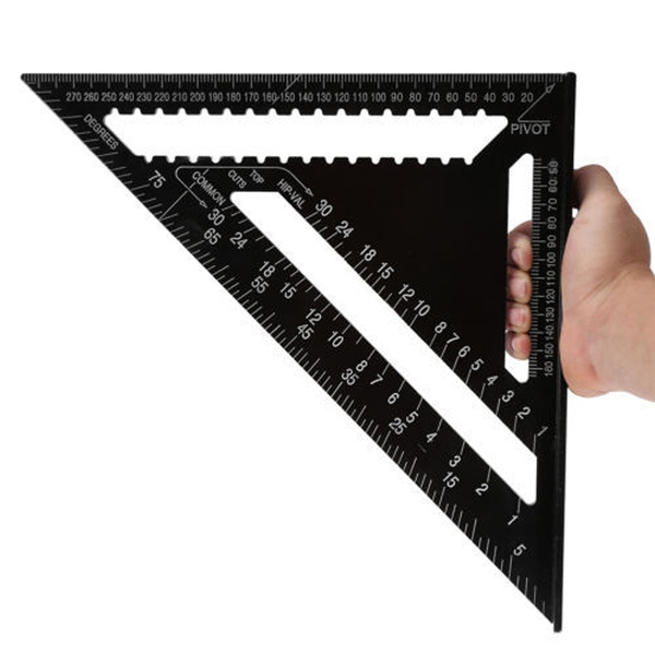"""12/"""" Aluminium Roofing Triangle Rafter Angle Frame Measuring Square Carpenter"""