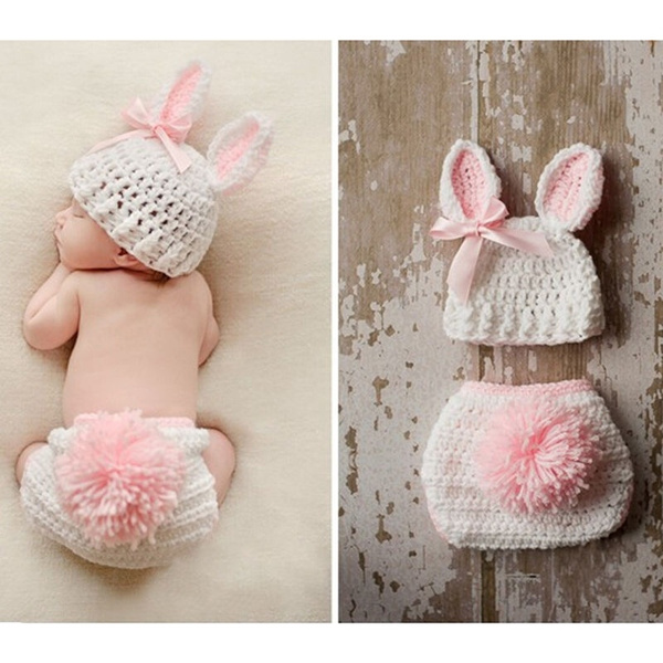 Newborn Baby Knit Clothes Photo Crochet Costume Photography Prop Outfit+Hat #Buy
