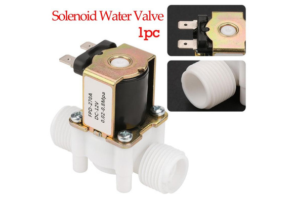 12V G1//2 NC Plastic Shut off Valve Solenoid Water Valve