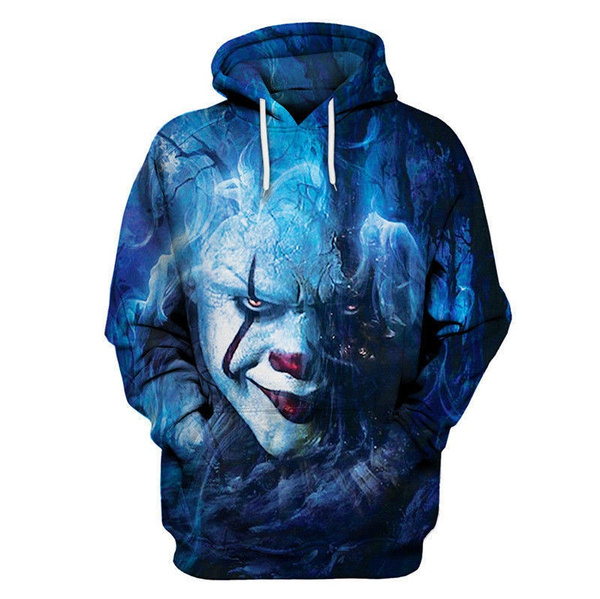 New Stephen King It Pennywise Horror Clown 3D Print Unisex Sweatshirt Hoodies