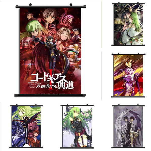 Code Geass Anime HD Canvas Print Wall Poster Scroll Home Decor Cosplay