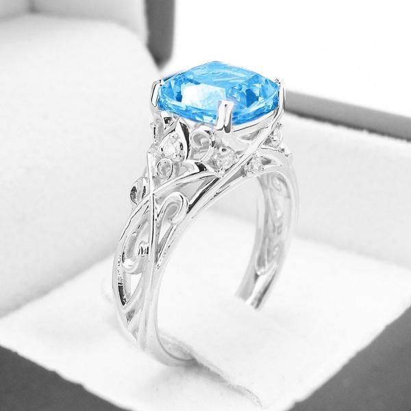 Sterling, colorfuldiamondring, tingecolorgemstone, sterling silver