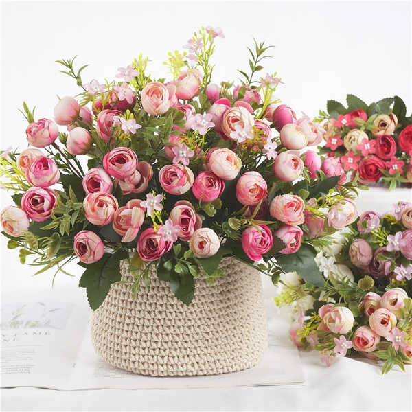 Artificial Mini Rose Bouquet Home Decor