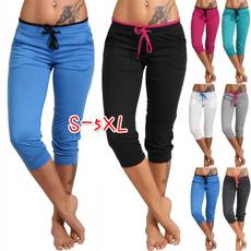 Women Pants, Summer, Leggings, elastic waist