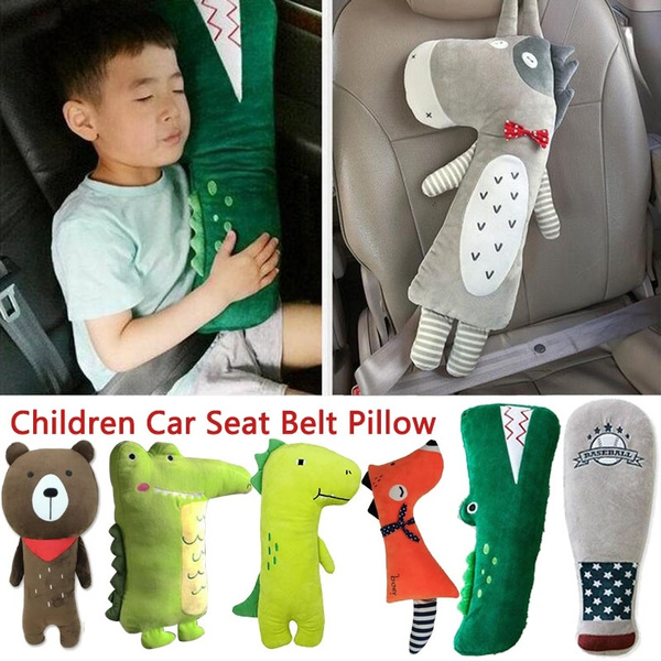 Car Kids Baby Neck Cushion Pad Pillow Travel Safety Seat Harness Shoulder 2Color