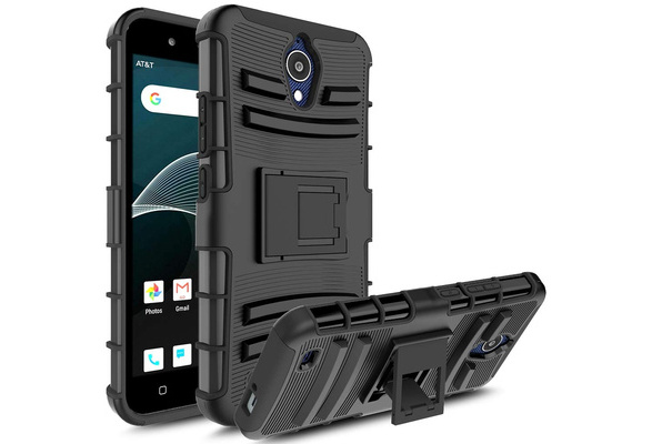 Rugged Heavy Duty PC Back +Rubber Combo Armor Case For AT&T Axia / QS5509A  Cover With Kickstand Protective Shell Funda Coque Capa