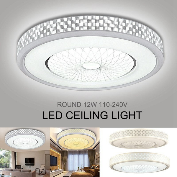 30 30 12cm 12w Round Led Ceiling Light Energy Efficient Modern Flush Mount Fixture Lamp Lighting For Home Kitchen Bathroom Dining Room