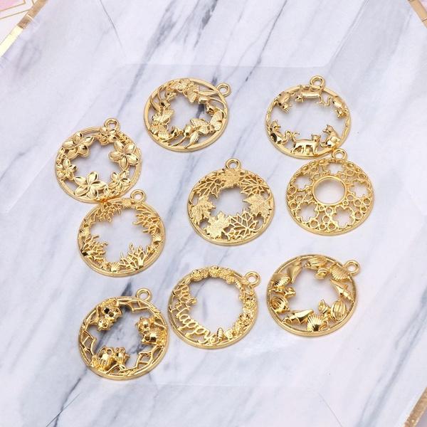 pendantearring, cabochon, Jewelry, blankframe
