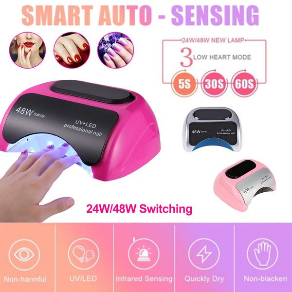 24w 48w Smart Hand Sensor Nail Dryer Polish Machine Uv Led Nail Lamp For Gel Nail Polish Art Tool Wish