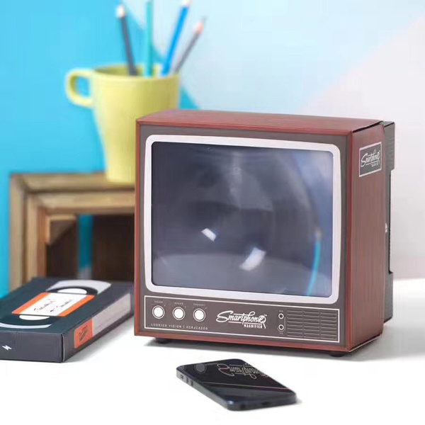 Vintage TV Smart Mobile Phone Magnifier Mobile Screen Video Amplifier Stand  SOL