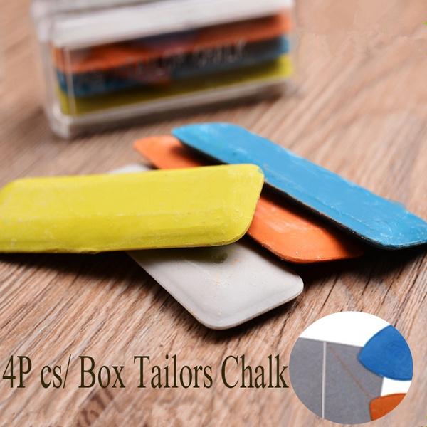 4Pcs Durable Dressmakers Chalk Colorful Tailor/'s Chalk Sewing Tools Erasable DIY