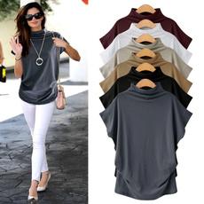 Vest, Plus Size, Women Blouse, short sleeves