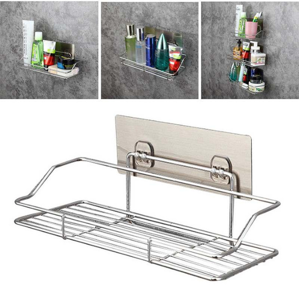 Steel, Bathroom, suctionshowershelf, stainlesssteelshowershelf
