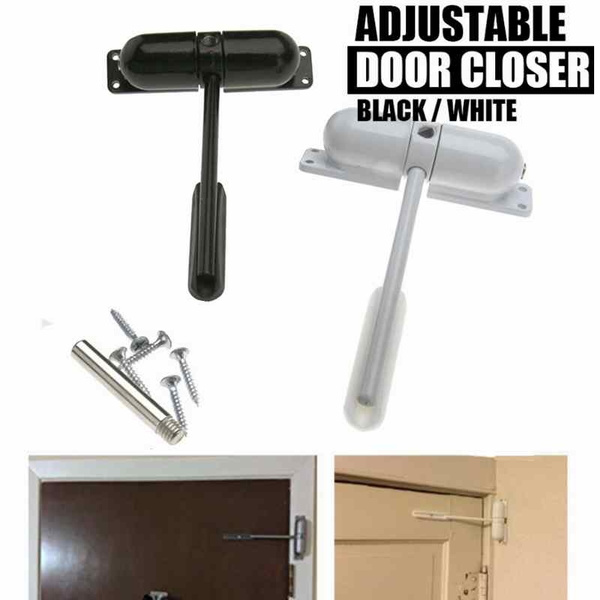 Auto Closing Surface Mounted Adjustable Door Closer Fire Rated Spring Loaded