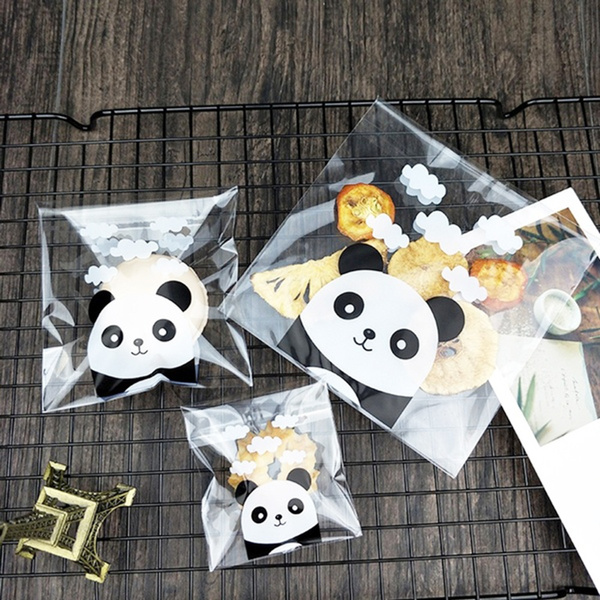 Packaging Party Supplies Self-Adhesive Panda Plastic Cookie Pocket Candy Bag